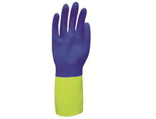 Malaysia Bi Color Neoprene Blended over Rubber Safety Glove