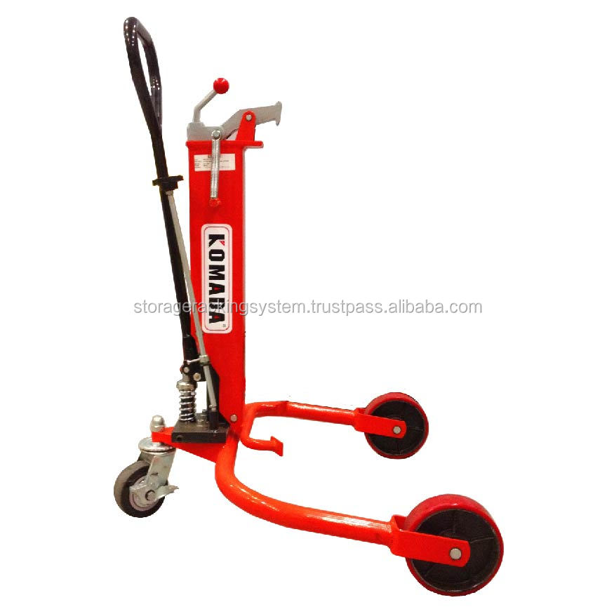 Material Handling Equipment Drum Lifter Red Color Drum Porter (HDT300) Warehouse Drum Trolley Lift Equipment