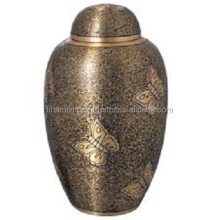 Antique Finish Brass Cremation Urn