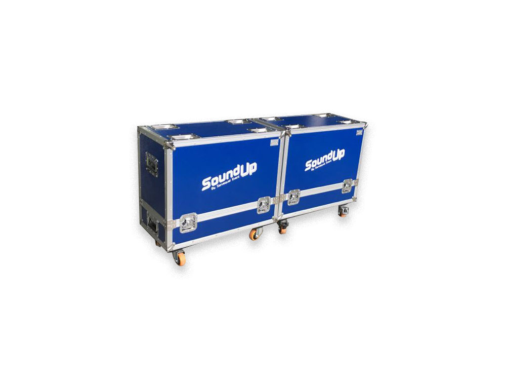 The cheapest price aluminium flight case for turbosound IQ10 with wheels