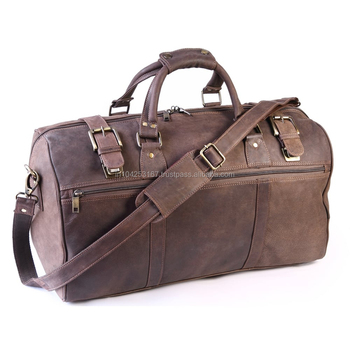 New Arrival Luxury Genuine leather mens duffel