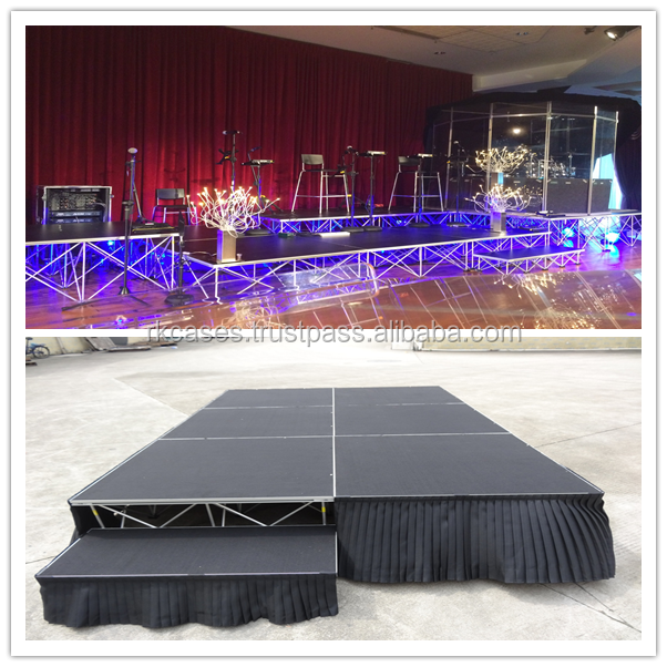Hot sell 1m*1m Folding Portable Stage Manufacturers