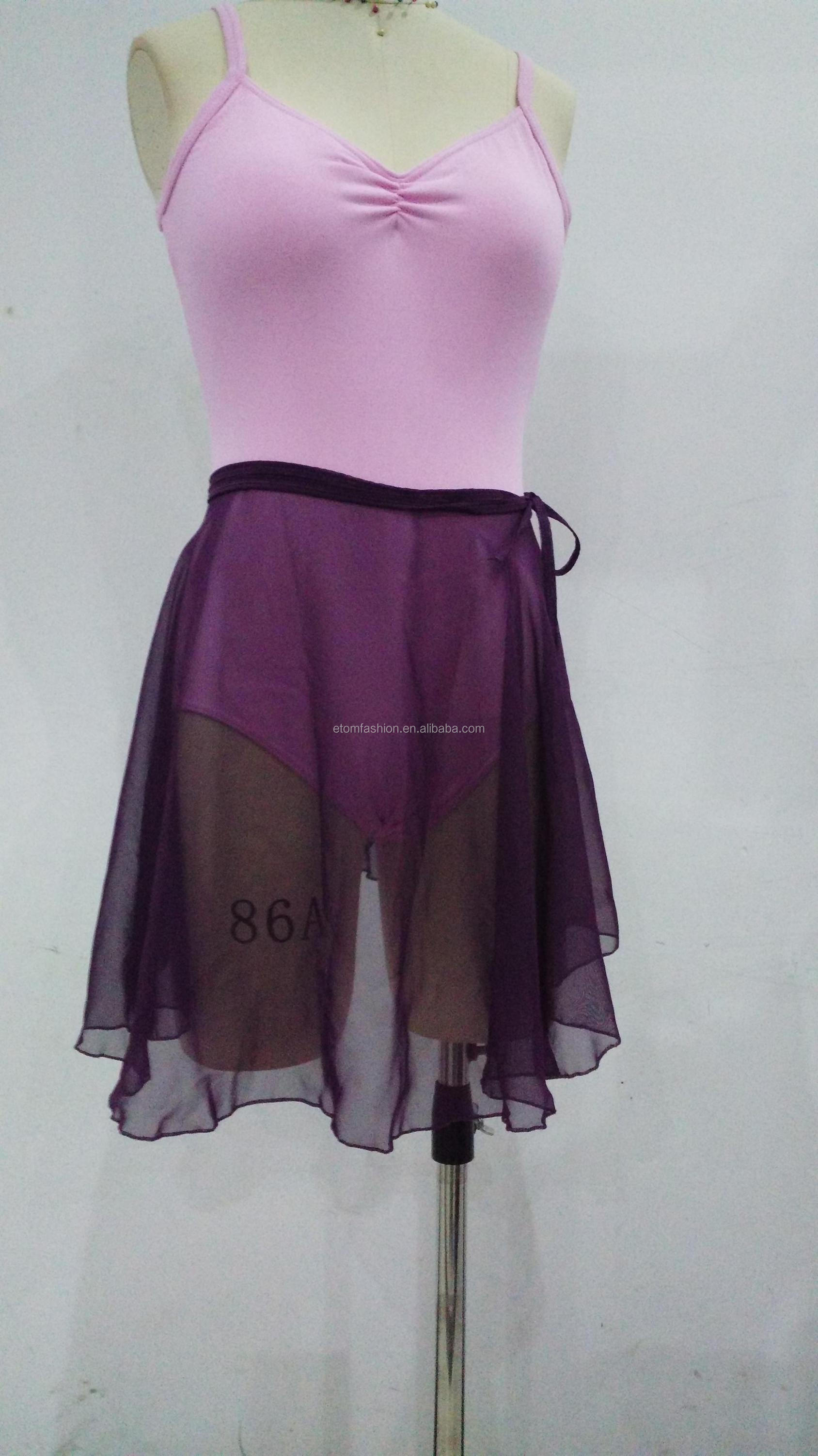 High quality Georgette Ballet Wrap Skirt e17034 from Guangdong