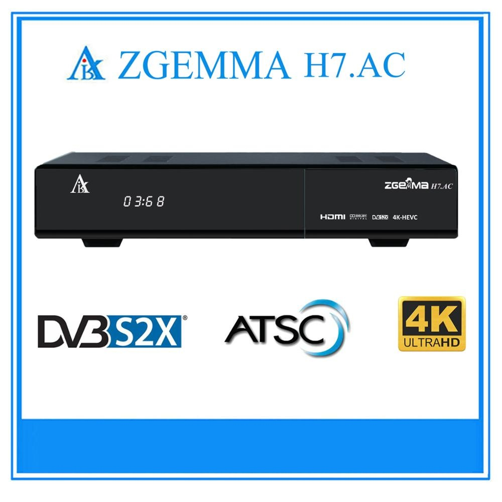 2017 New Best Zgemma H7.AC Multistream HEVC 4K UHD KODI TV Box 2 x DVB-S2X + ATSC Tuners For America/Canada Channels.