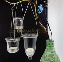 Glass Votive Holders - Hanging Glass Votive candle holders for Wedding and Party Decoration