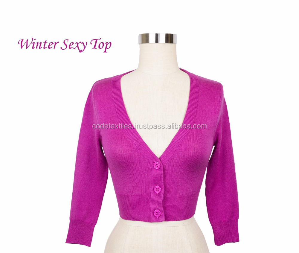 New customize women V Neck Long Sleeve Sweater Girl, 100% Cashmere Pink Sweater, Leisure Style