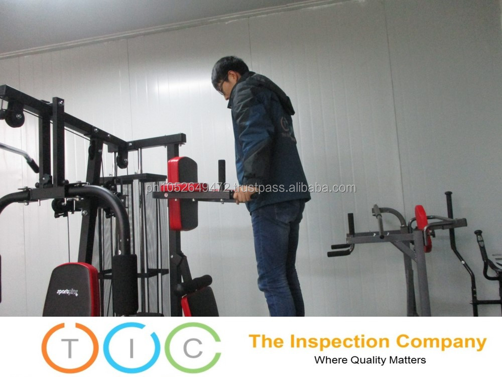 Gym Equipment Third Party Inspection in China / Quality Control Services