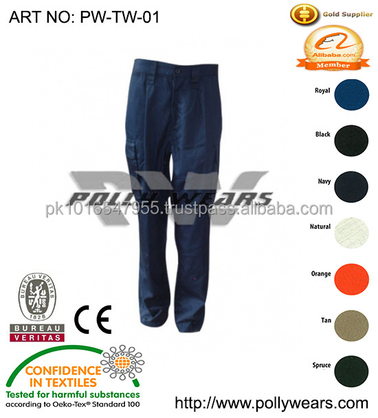 mens colorful Cotton Work Wear Clothing Pants factory work uniform trousers top trousers