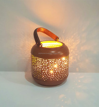 cheap Moroccan lantern with leather handle