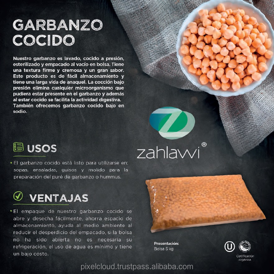 High Quality Cooked Chickpea from Mexico