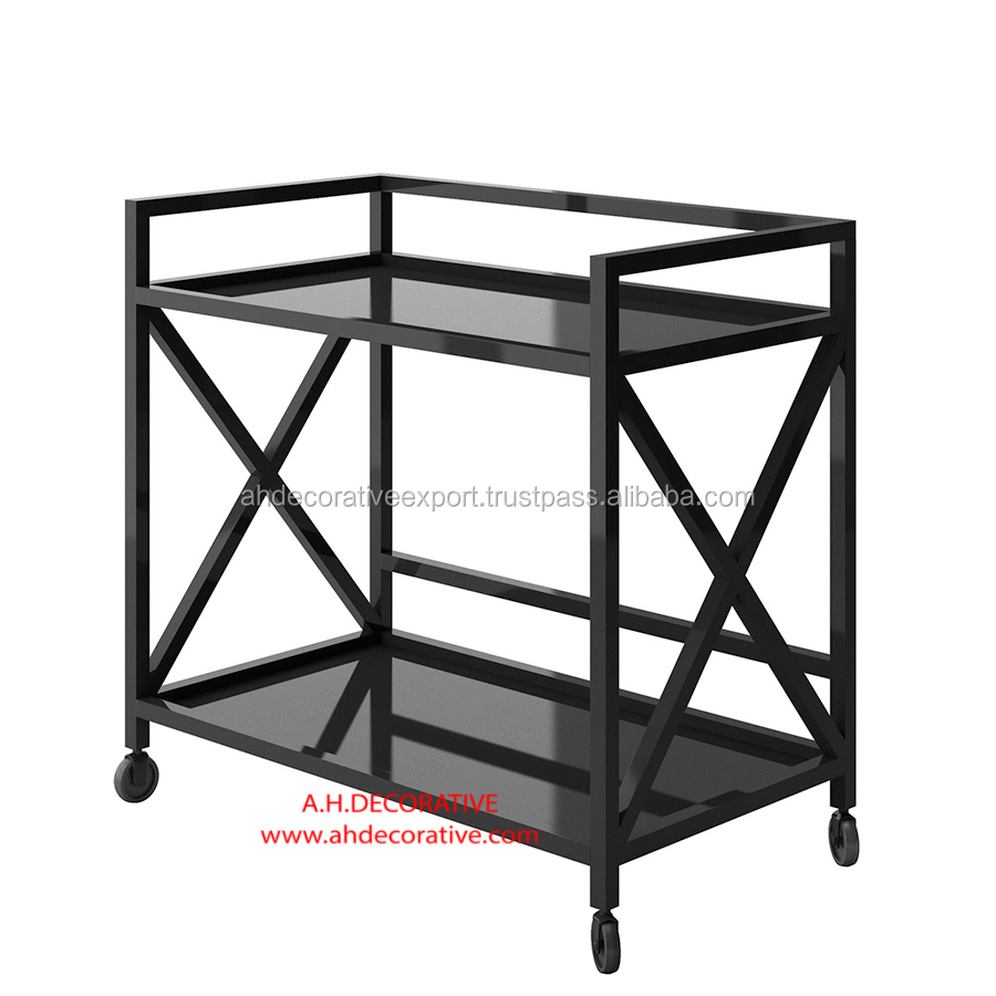 Black Matilda Modern Bar Cart