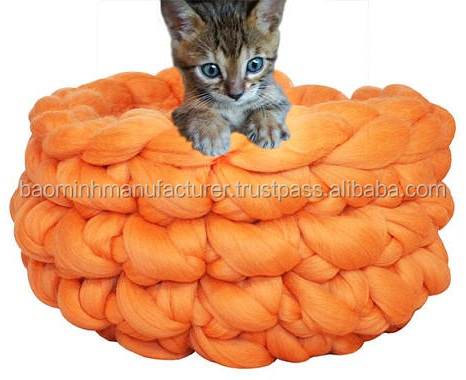 Handmade cat bed Crocheted Cosy Pet Bed