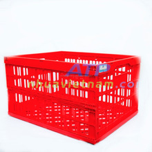 Hot plastic colorful folding crated