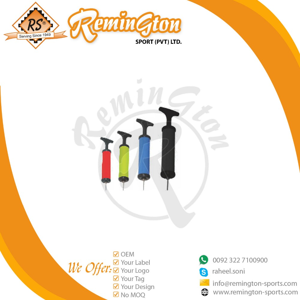 RFP-01 Football Hand air pump with needle with four different colors and sizes