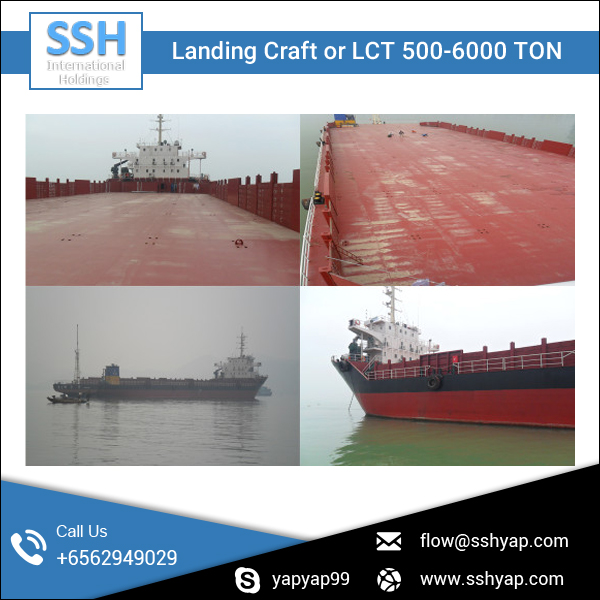 Excellent Quality Material Build Landing Craft Vessel with High Loading Capacity