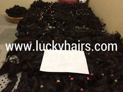 100% raw real human hair raw virgin unprocessed no chemical no tangle indian temple RAW Hair