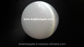 White Selenite Natural Agate Gemstone Ball