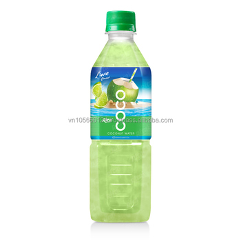 natural coconut water with lime juice 500ml Pet Bottle