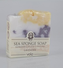 Fine & Luxurious Sea Sponge Bar Soap with Lavender / Hydrating Bath - Body - Hand - Facial Cleansing