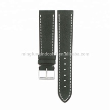 Wholesale Italian Trendy Replacement Army Green Chevre Leather Watch Strap for Hermes