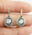 1 Pair 925 Sterling Silver Natural Pave Diamond With Ruby Genuine Authentic Earring