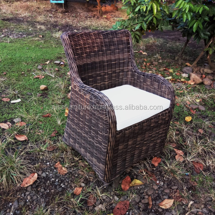 Synthetic Rattan Raw Material Dining Chair