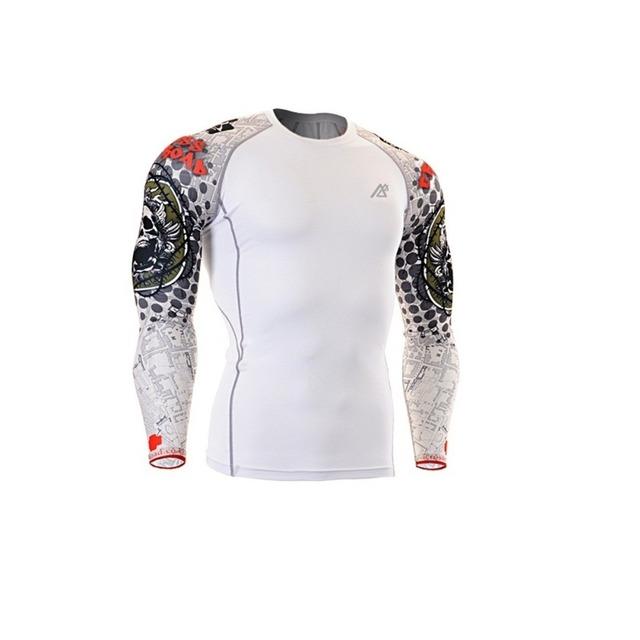 White long sleeve printed tshirt bulk
