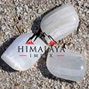 HIMALAYAN WHITE CRYSTAL PALM STONE MESSAGES THERARAPY