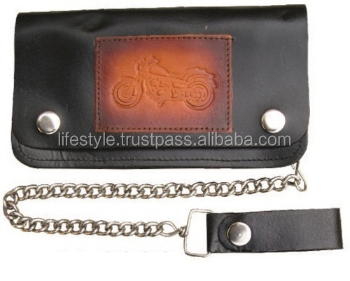 mens wallets with chains mens wallet with coin pocket wallet with coin slot wallet with cell phone pocket leather biker chain wa