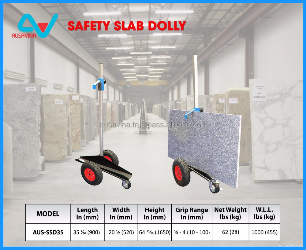 SAFETY SLAB DOLLY, stone carrying trolleys, moving loading stone granite marble