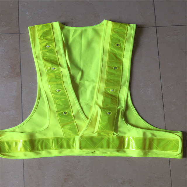 Polyester High Visibility Flashing Police Led Safety Clothing With 3M