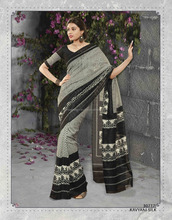 plain crepe saree