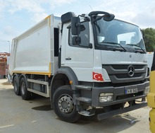 Used Mercedes Axor Rear Loaded Garbage Compactor Truck