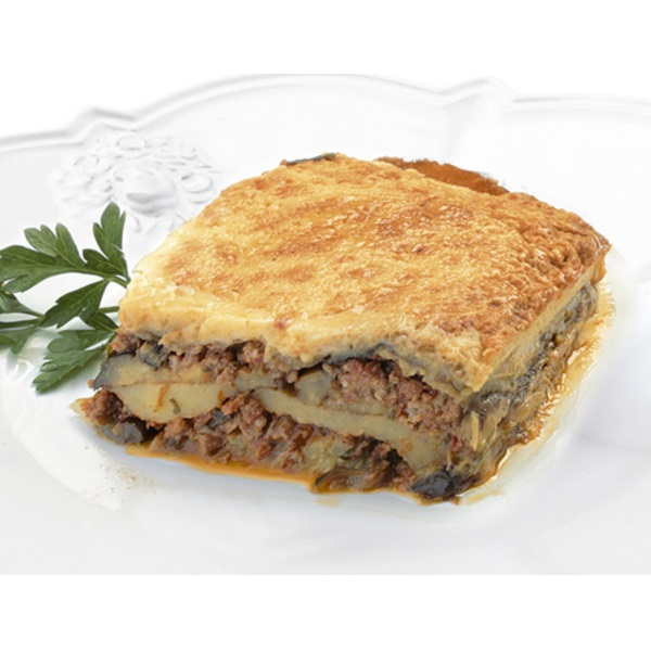 Traditional Greek ready-to-eat moussaka