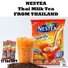 NESTEA NESTLE CHA YEN THAI MILK ICED TEA INSTANT 3 IN 1. (1 PCK - 13 sachets)