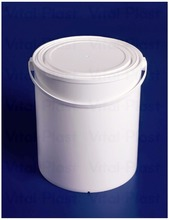 2,5 l/0,66 Gallon Cylindrical Plastic Bucket with Lid