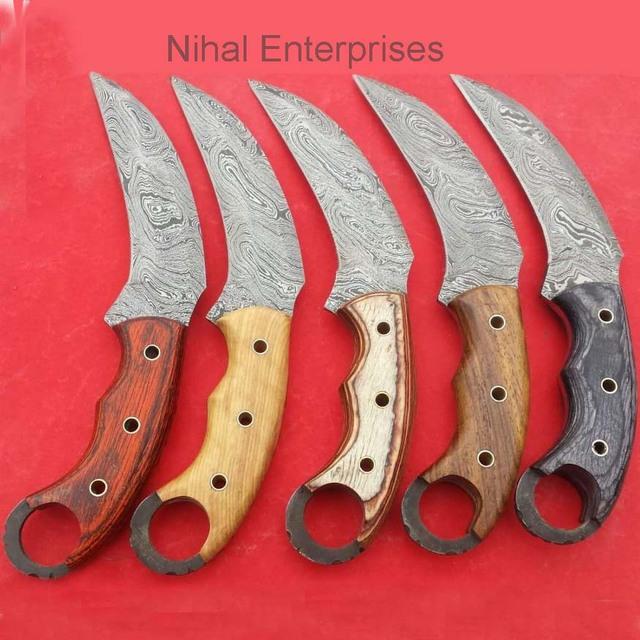 Damascus Steel karambit Hunting Knife/Set