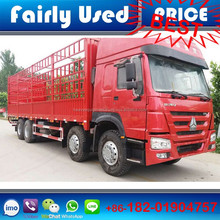 High quality used HOWO 8x4 cargo truck of howo cargo box truck