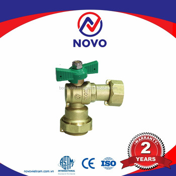 [NOVO VIETNAM] PN16 Brass angle valve for water meters