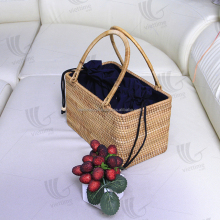Unique design straw handbag/ straw ladies beach bag wholesale