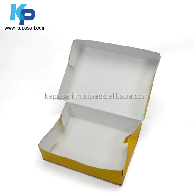 Food Packaging Box using Six Corner Folds, Duplex Grey Board Pantone Waterbase Varnish