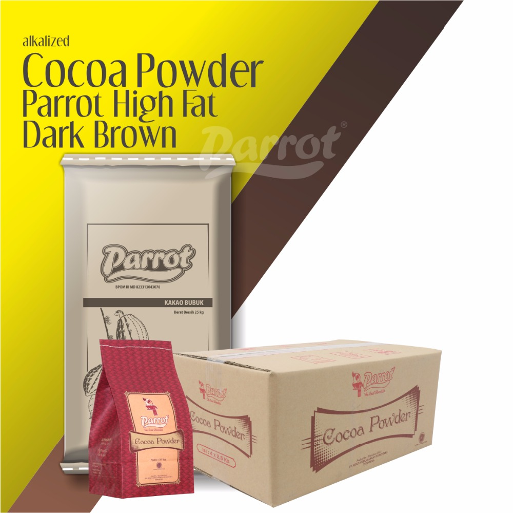 BEST SELLING CHOCOLATE POWDER HIGH FAT DARK BROWN PARROT