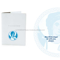 Passport Holder White Angel 100 Leather