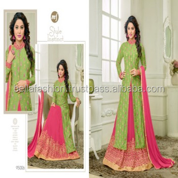 Indian and Pakistani Beautiful Wedding and Party Wear Fashion Designer Straight Suits