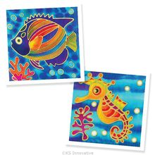 DIY Batik Handmade Painting 2-in-1 Box Kit - Fish and Seahorse
