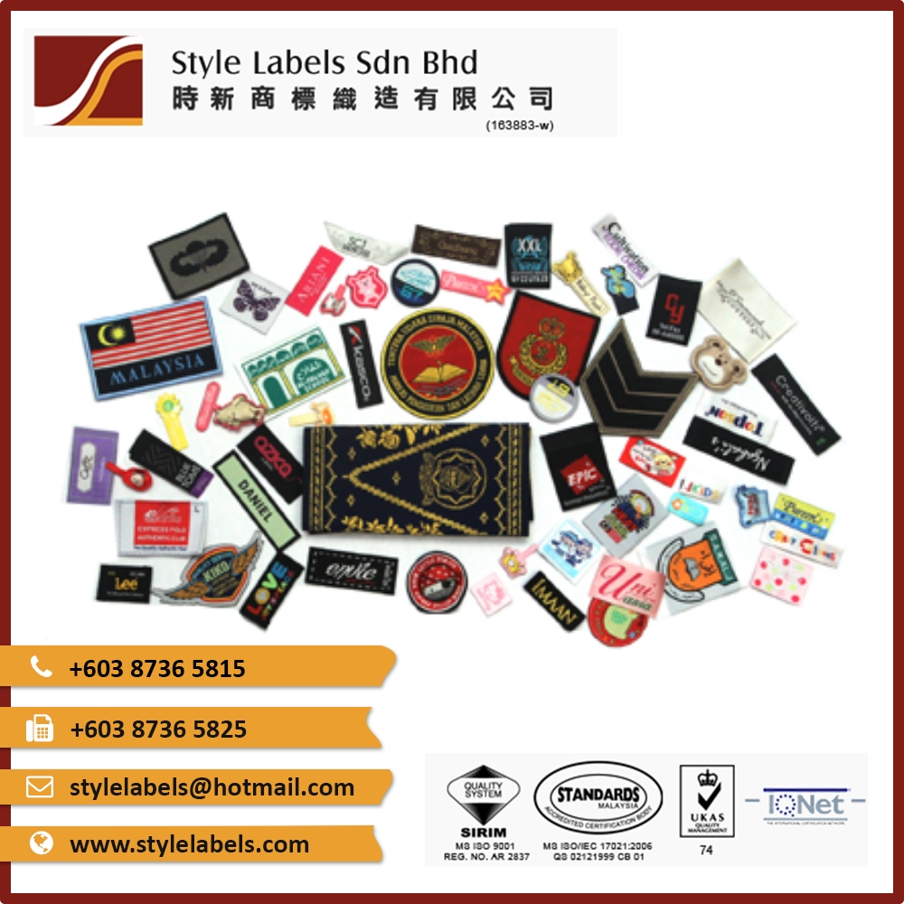 Custom Woven Labels from Malaysia