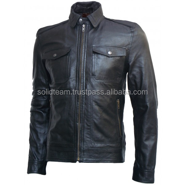 High Quality 100% Pure Genuine Leather Men's Fashion Jacket, Men Fashion Leather Jacket