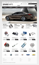 Auto Parts Website Design
