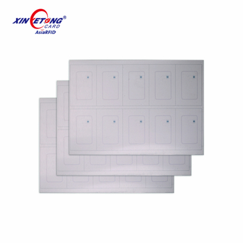 Self Cut Printable manufacture UHF PVC inlay Filmable Proximity RFID card PVC Sheet