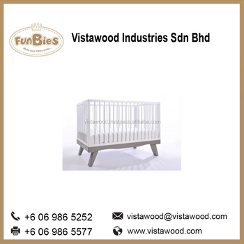 Wooden designer baby cots bed